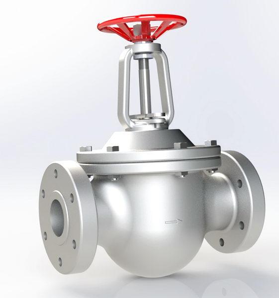 فایل آماده سالیدورکز globe valve