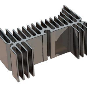مدل سه بعدی پروفیل هیت سینک آلومینیومی