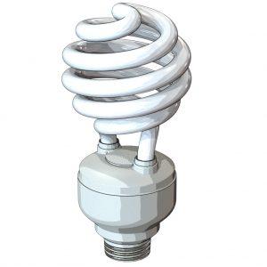 مدل سه بعدی لامپ کم مصرف با فرمت سالید ورکز پارت