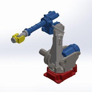 دانلود رایگان پروژه سه بعدی بازوی رباتیک