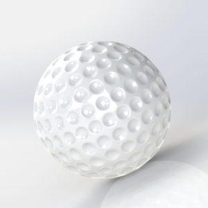 پروژه سالید مدل سه بعدی توپ گلف