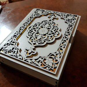 طرح آماده برش لیزری جعبه قرآن