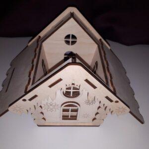 جعبه انگشتر به شکل خانه با فرمت کورل